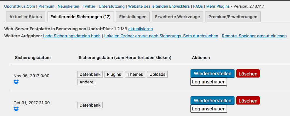 Tutorial: WordPress Backup mit UpdraftPlus 4