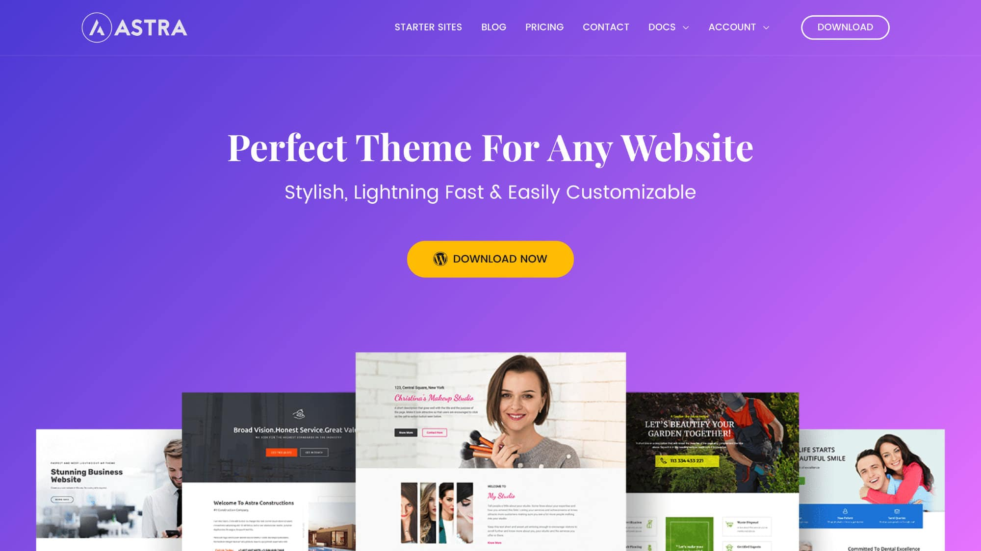 Astra Page Builder Theme Website