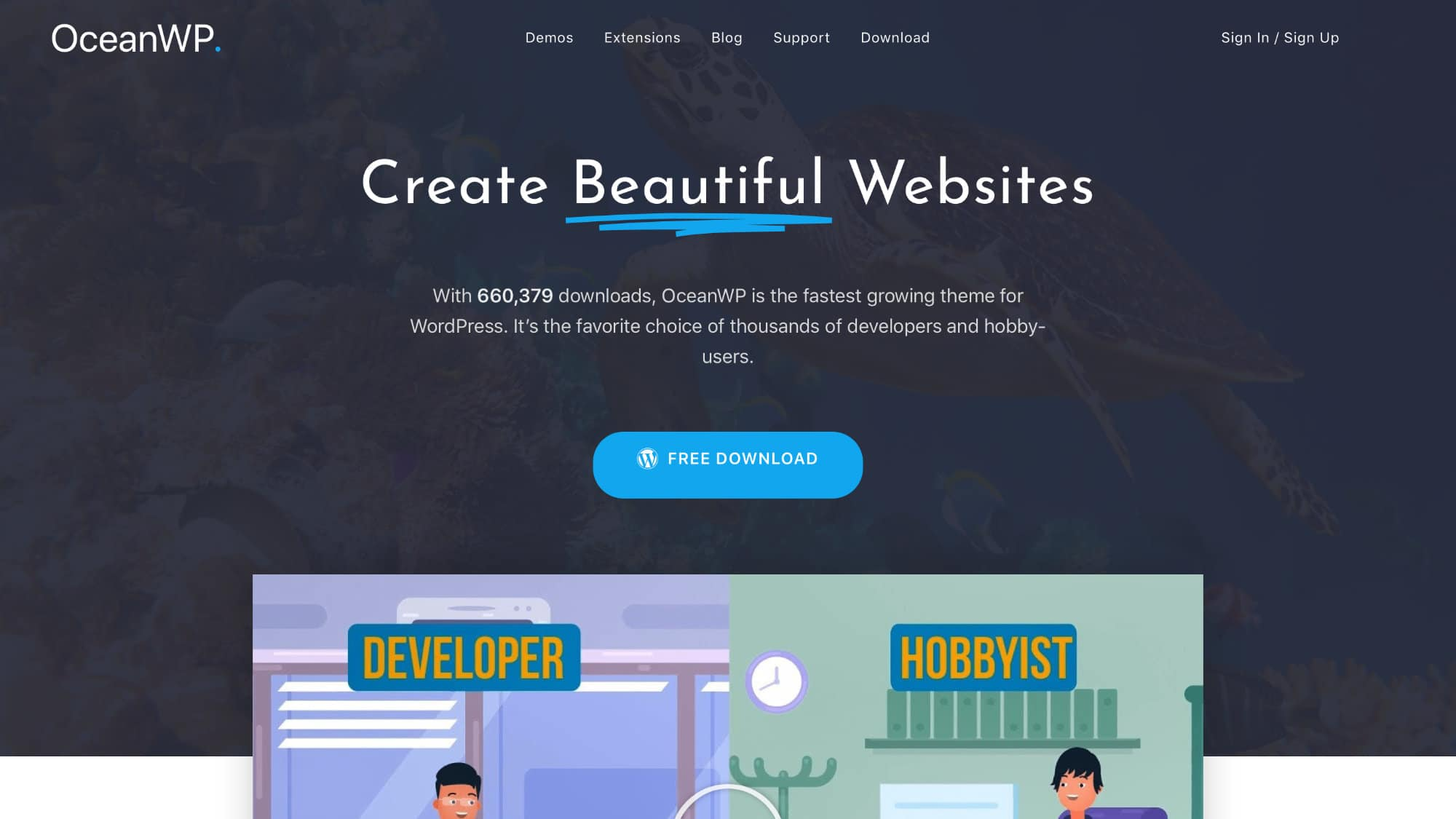 Ocean WP Page Builder Theme Website