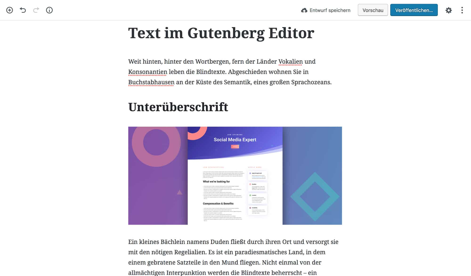 WordPress Editor neu: Gutenberg
