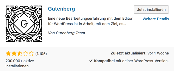WordPress Gutenberg Editor Plugin