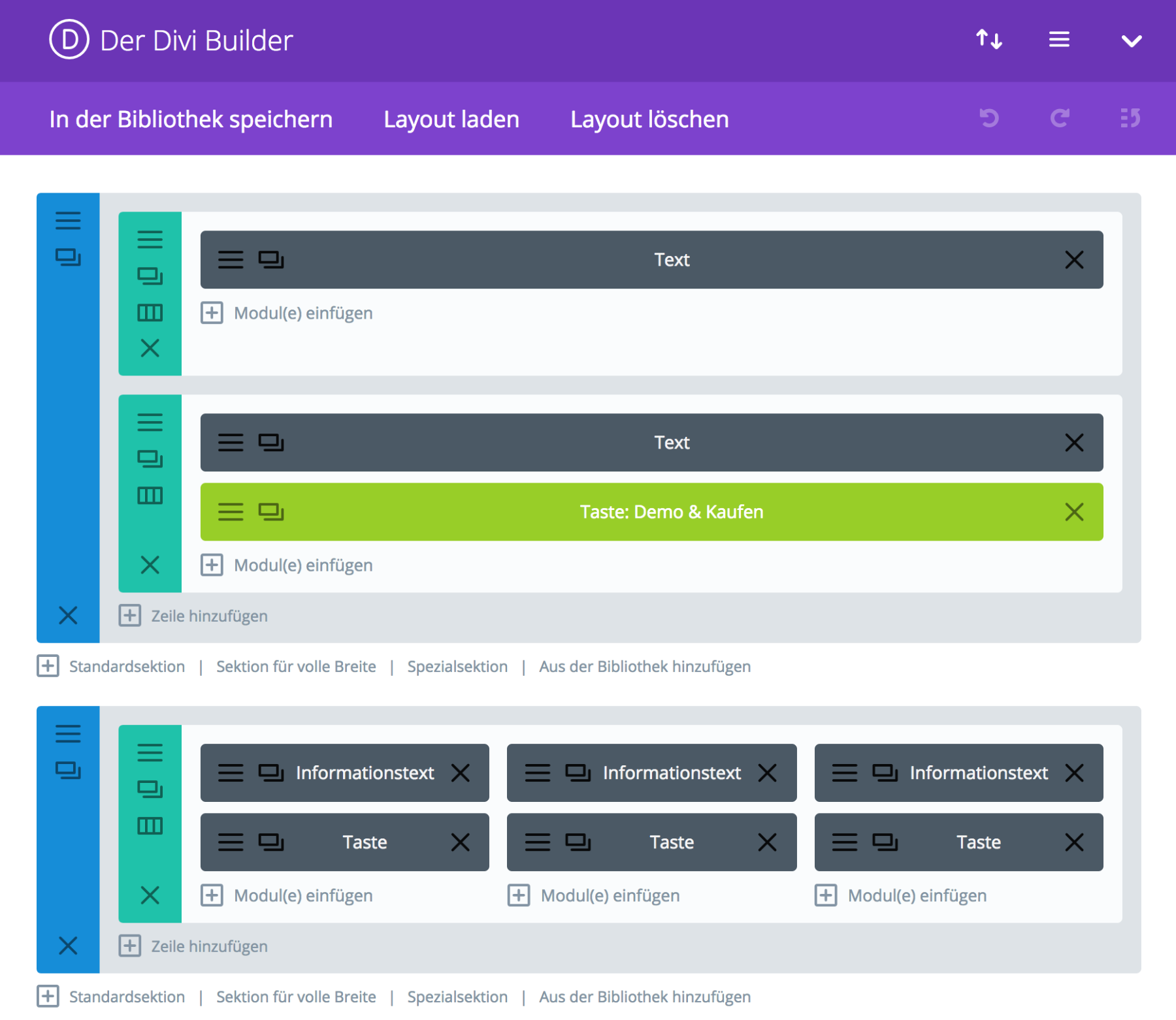 Divi Builder Backend