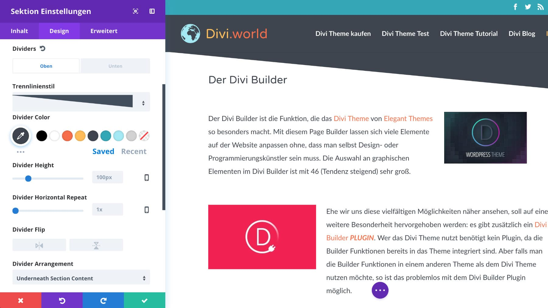 Divi Visual Builder 2
