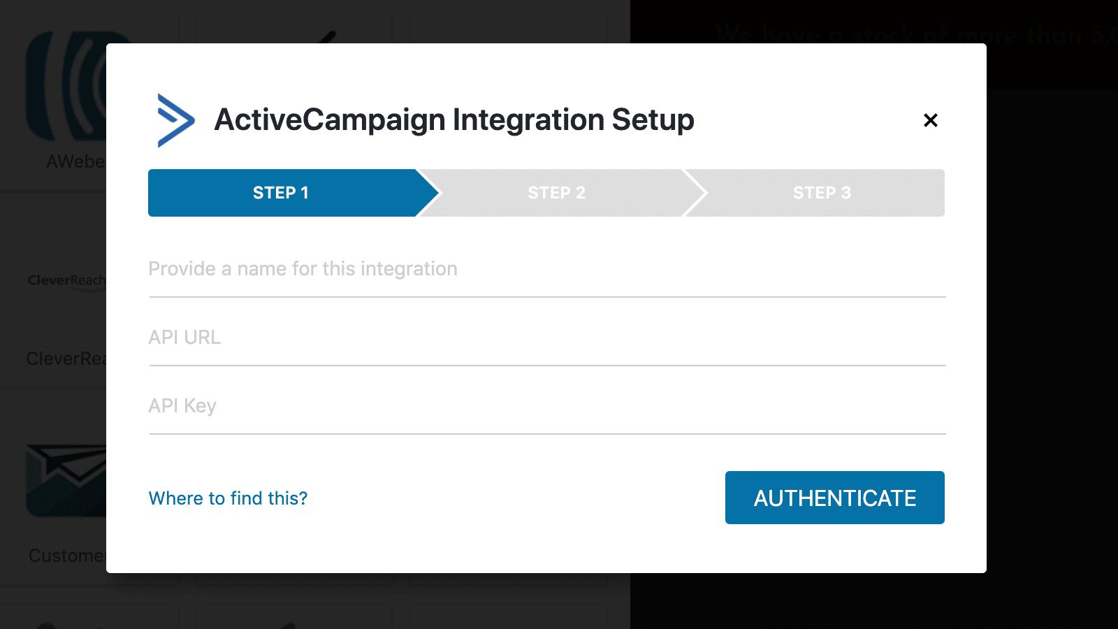 Convert Pro Test Integration Setup Schritt 1
