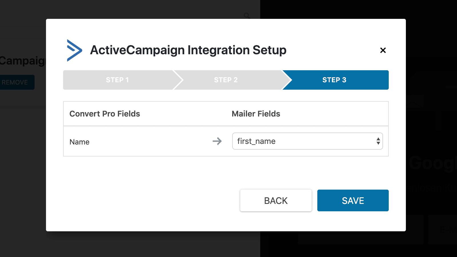 Convert Pro Test Integration Setup Schritt 3