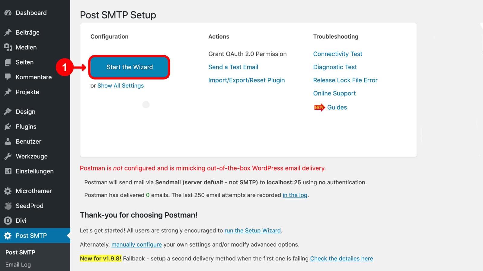 WordPress E-Mail einrichten & Probleme lösen 1