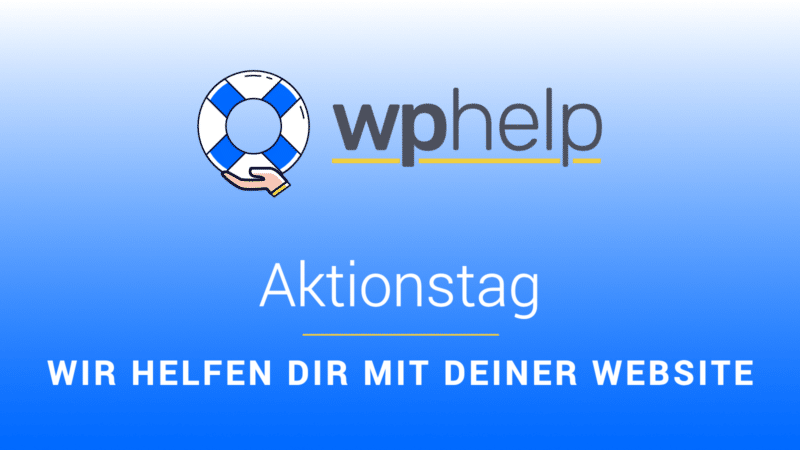 wphelp Aktionstag: WordPress Support