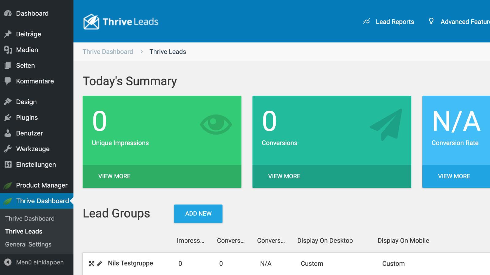 Thrive Leads Optin Popup Plugin