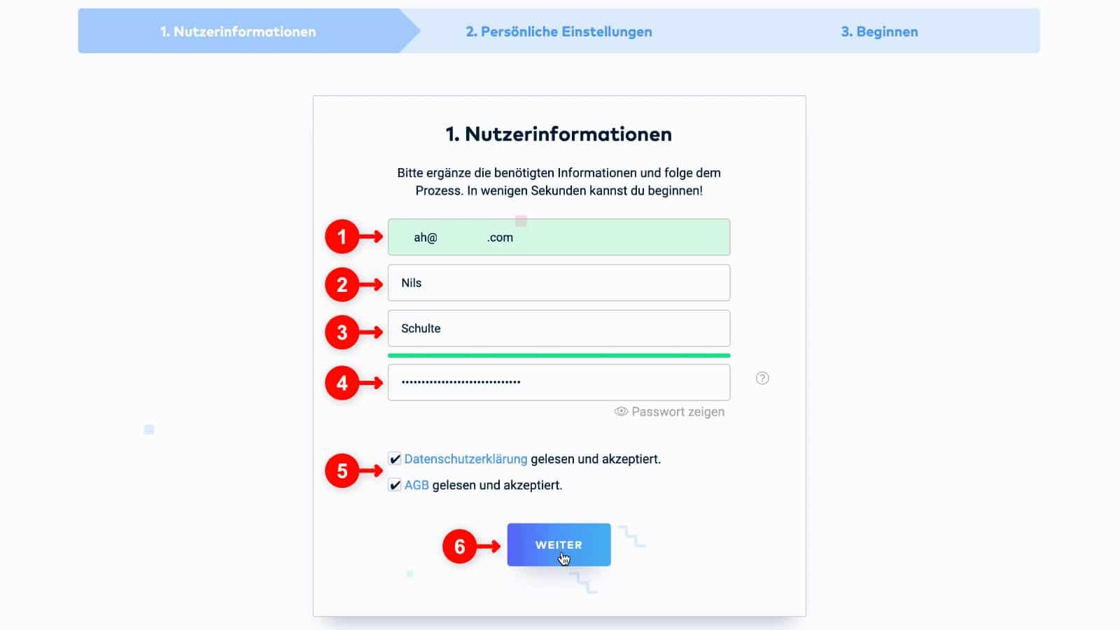WordPress Website erstellen: Raidboxes Anmeldung 3