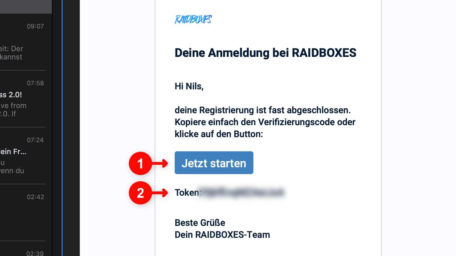 WordPress Website erstellen: Raidboxes Anmeldung 6