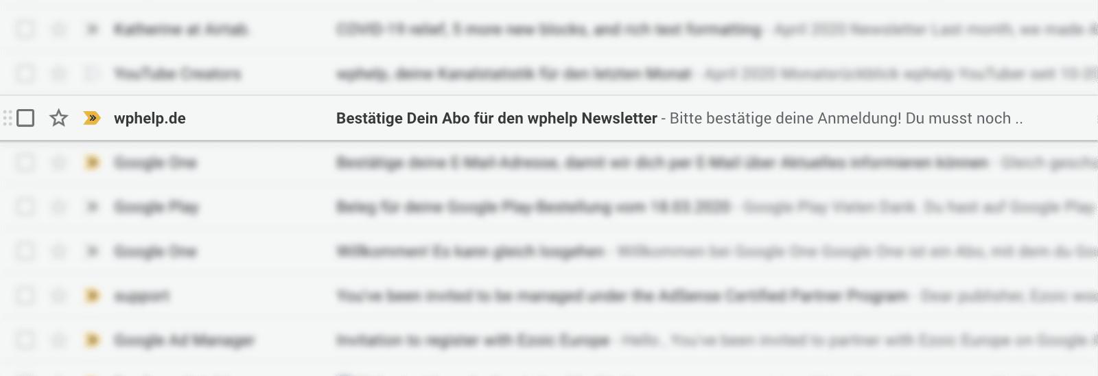 Confirmation Screenshot wphelp.de
