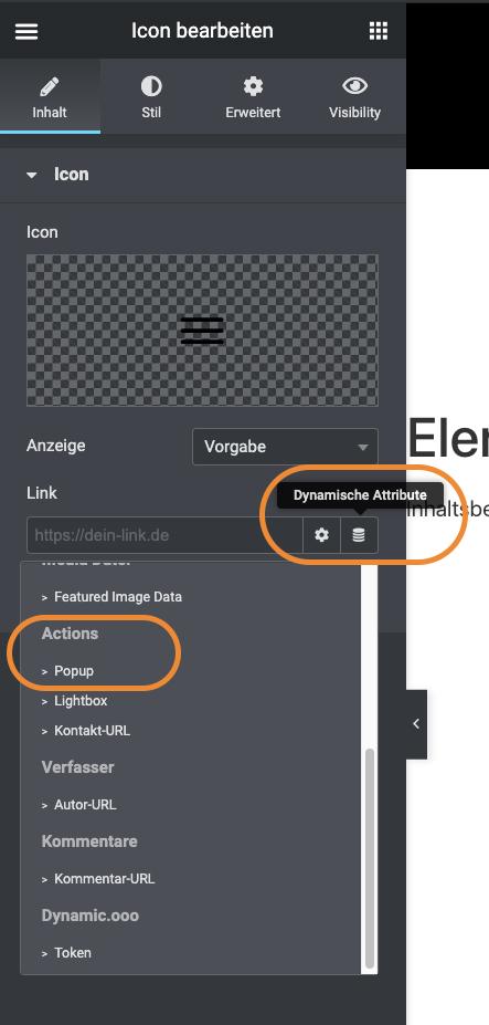 Elementor Pro: Popup-Navigation 7